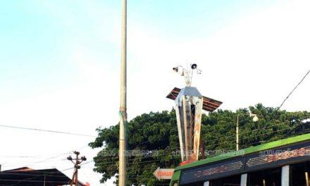 ചാവക്കാട് നഗരത്തെ ഇരുട്ടിലാക്കി ഹൈമാസ്റ്റ് കണ്ണടച്ചു
