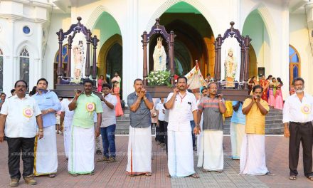 പേരകം സെന്റ് മേരീസ് ദേവാലയത്തില് തിരുനാള് – ആയിരങ്ങള് പങ്കെടുത്തു