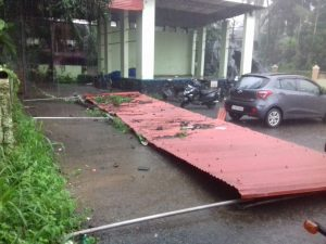 cyclone hit thiruvenkidam church cycle shed
